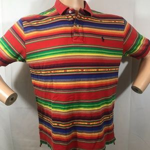Bright striped mens shirt Polo by Ralph Lauren L
